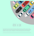 car rent choosing the best vector image vector image