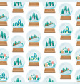 cartoon snow globe seamless pattern background vector image vector image