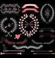 chalkboard wedding elements vector image vector image