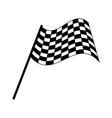 checkered race flag isolated on white background vector image