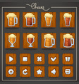 cheers draft beer glasses and mugs objects and vector image
