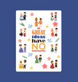 children nationalities poster vector image vector image