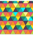 Colorful creative triangle pattern vector image