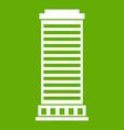 column icon green vector image vector image