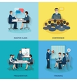 Conference Flat Set vector image vector image