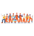 construction workers team industrial service vector image vector image
