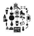 discipline icons set simple style vector image