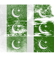 Flag of Pakistan with old texture vector image