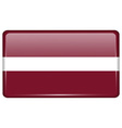 Flags Latvia in the form of a magnet on vector image vector image
