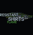 flame resistant t shirts text background word vector image vector image