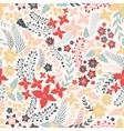 Flower seamless pattern with cute elements vector image