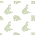 Funny dinosaur Seamless background vector image vector image