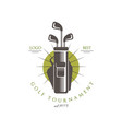 golf tournament logo best est 1978 elegant vector image vector image