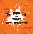 grunge halloween spider background 2708 vector image vector image