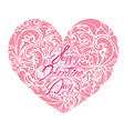 heart ornament 2 380 vector image vector image