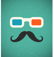 hipster 3d cinema vector image