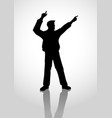 hooray silhouette vector image vector image