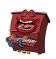 joyful emoji character emotion piano musical vector image vector image