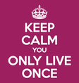 keep calm you only live once YOLO quote poster vector image vector image