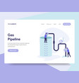 landing page template gas pipeline concept vector image