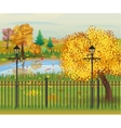 landscape of autumn city Park vector image vector image