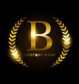 luxury golden letter b for premium brand identity vector image vector image