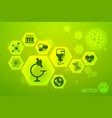 medicine and science green poster vector image vector image
