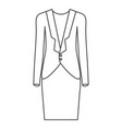 monochrome silhouette of female formal suit vector image