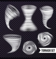monochrome storm realistic collection vector image vector image