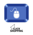 mouse in a button vector image vector image