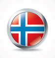 Norway flag button vector image vector image