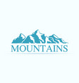 ogo with alpen mountains vector image