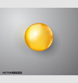 oil gold bubble isolated on transparent background vector image