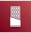 Opened chocolate bar icon logo design vector image vector image