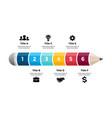 pencil infographic educational 3d concept six vector image