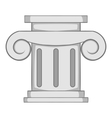 Roman column icon gray monochrome style vector image vector image