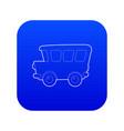 school bus icon blue vector image vector image