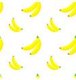 seamless pattern tropical ornament yellow bananas vector image