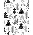 seamless winter pattern from doodle hand vector image
