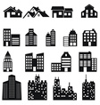 Set of building icons vector image vector image