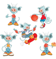 Set of Cartoon Cute Devil vector image