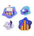 set of modern business with vector image vector image