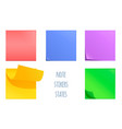 set of post note stickers vector image