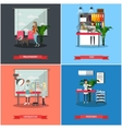 set of veterinary care concept posters vector image vector image