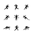 set stick figures of runners vector image vector image