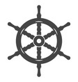 ship wheel black icon nautical and sea equipment vector image