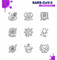 simple set covid-19 protection blue 25 icon vector image vector image