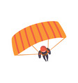 skydiver descending with a parachute wing extreme vector image