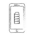 smartphone battery energy full power app vector image