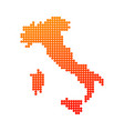 style map of italy in orange color vector image